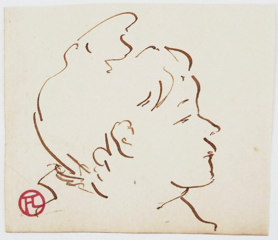 Henri De Toulouse-Lautrec (1864-1901) Ink Sketch