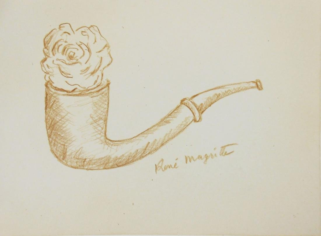 Rene Magritte (1898-1967) Colored Pencil Drawing