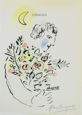 Marc Chagall (1887-1985) Ink & Chalk Drawing