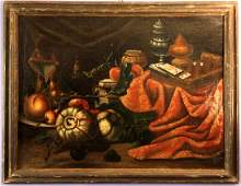 Pair Roman School Oil Paintings, 17th Century