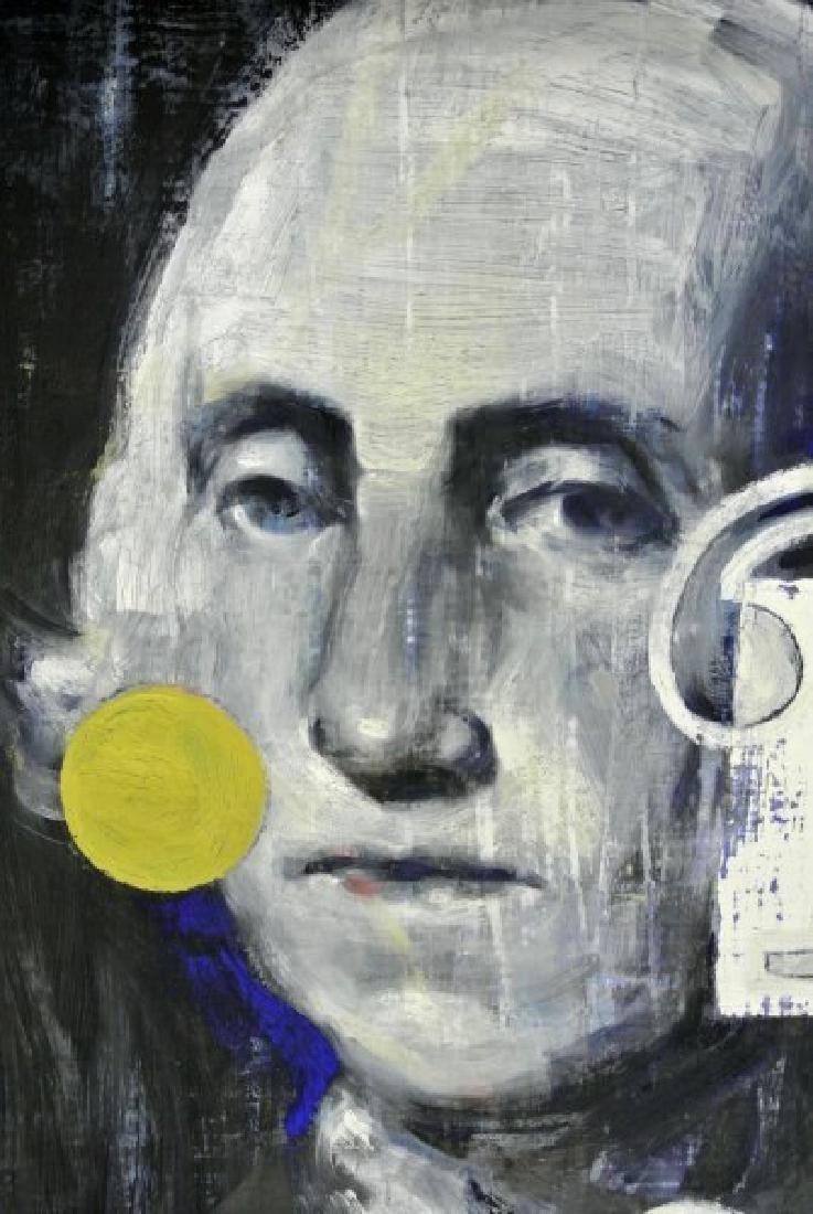 Modernist Painting Of George Washington, Signed - 2