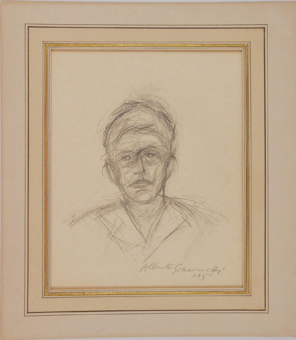 Alberto Giacometti (1901-1966) Pencil Sketch
