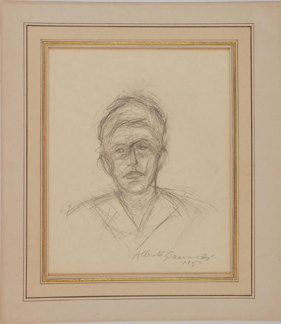 Alberto Giacometti (1901-1966) Pencil Sketch