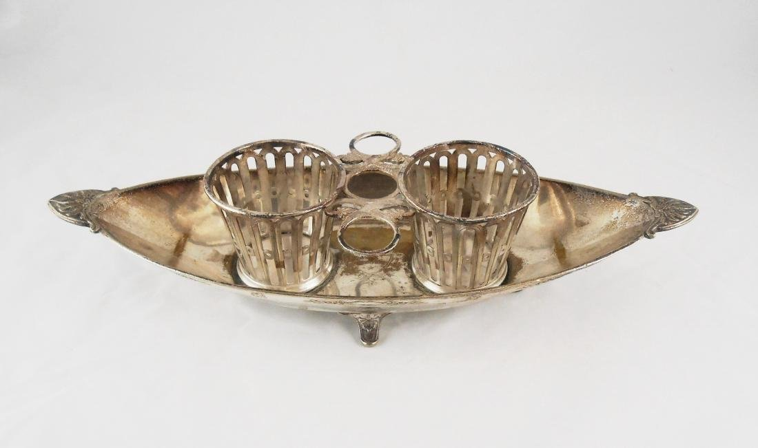 French Christofle Silver Plated Condiment Dish