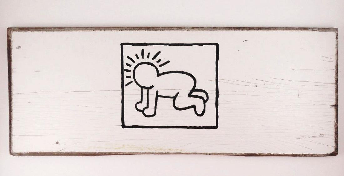 Keith Haring (1958-1990) Acrylic On Panel