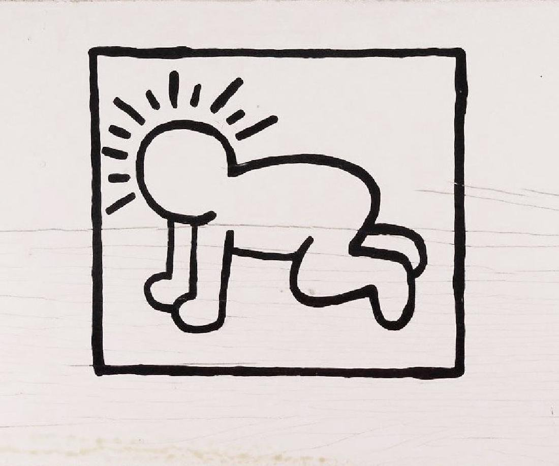 Keith Haring (1958-1990) Acrylic On Panel - 2