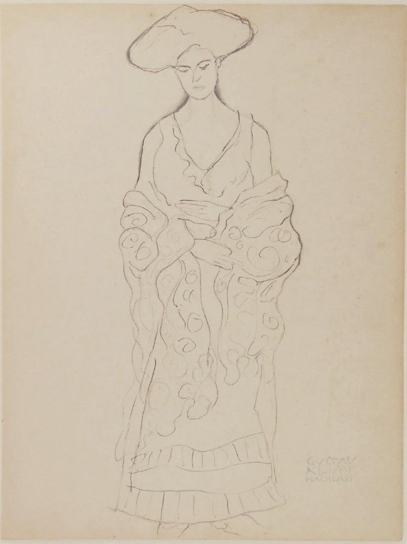 Gustav Klimt (1862-1918) Pencil Drawing