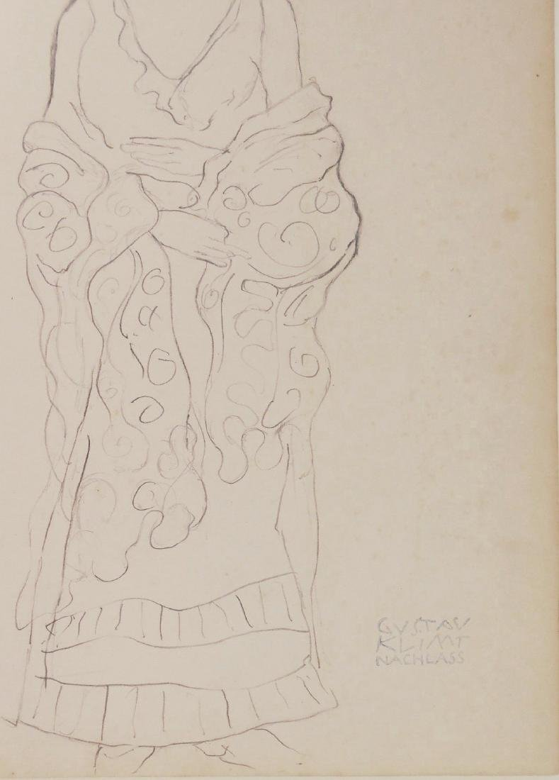 Gustav Klimt (1862-1918) Pencil Drawing - 2