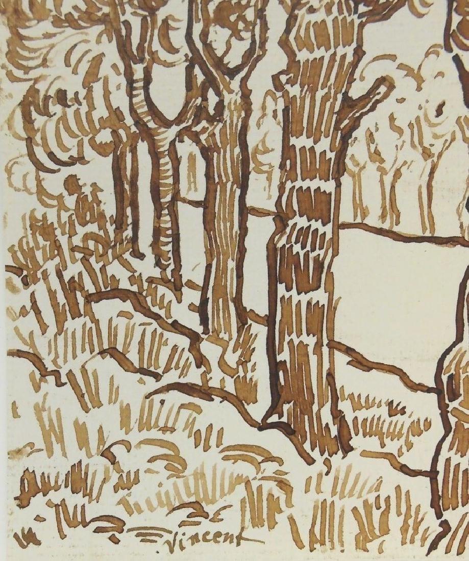 Vincent Van Gogh (1853-1890) Pen & Ink Drawing - 2