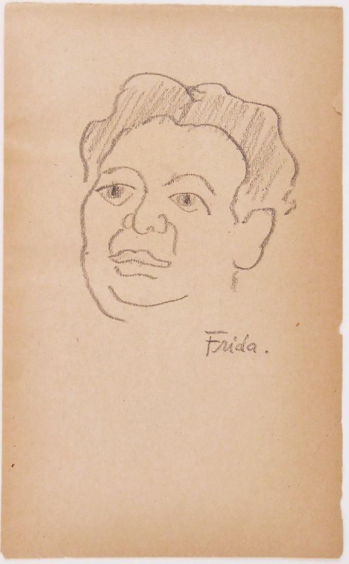 Frida Kahlo (1907-1954) Pencil Drawing