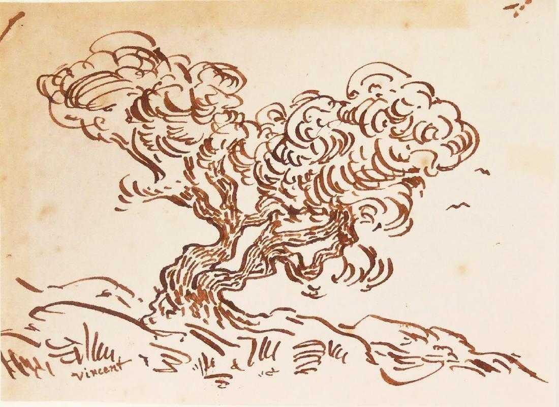 Vincent Van Gogh (1853-1890) Ink Study
