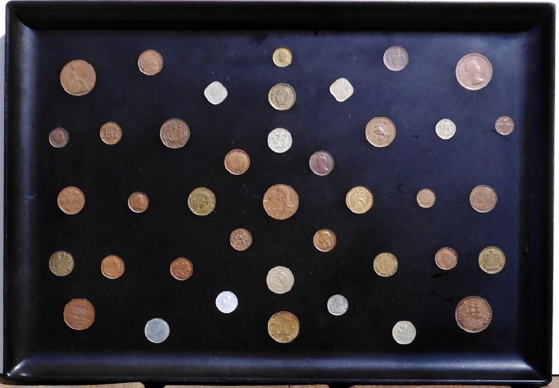 Tea Tray With Inlaid Coins, Circa 1955