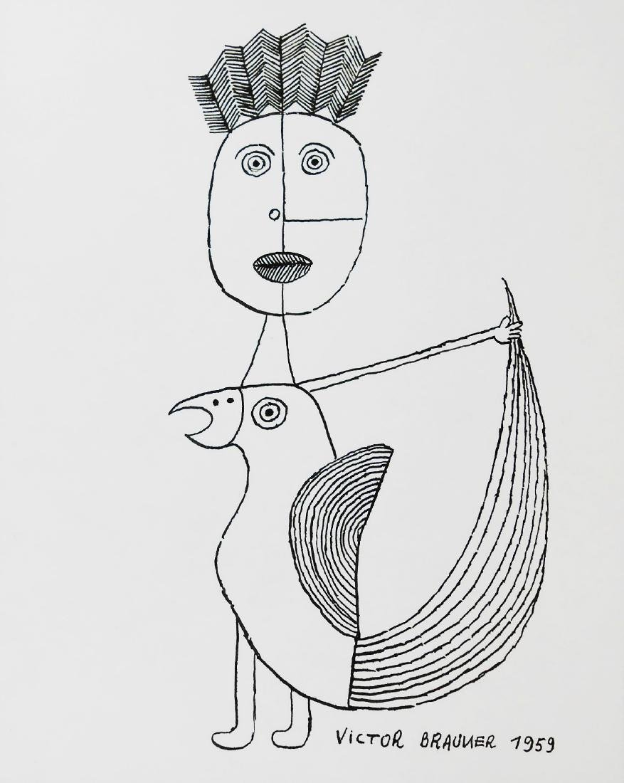 Victor Brauner (1903-1966) Pen & Ink Drawing