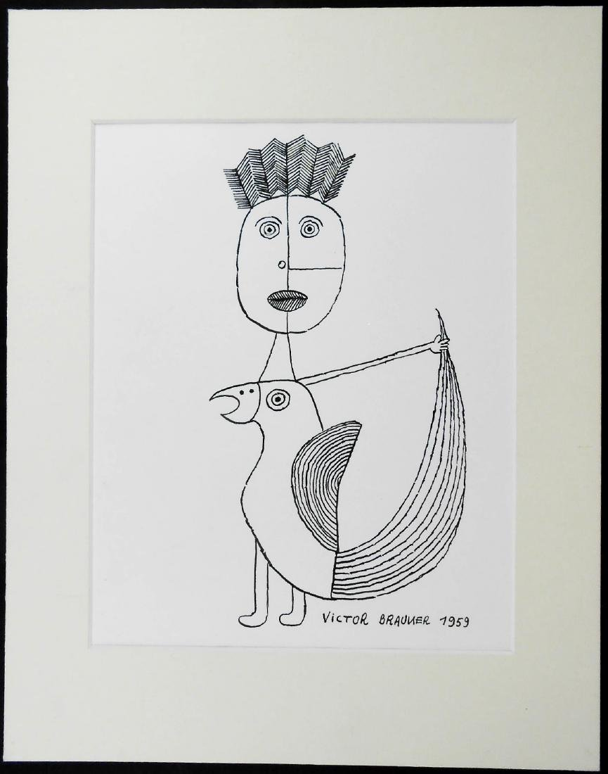 Victor Brauner (1903-1966) Pen & Ink Drawing - 2