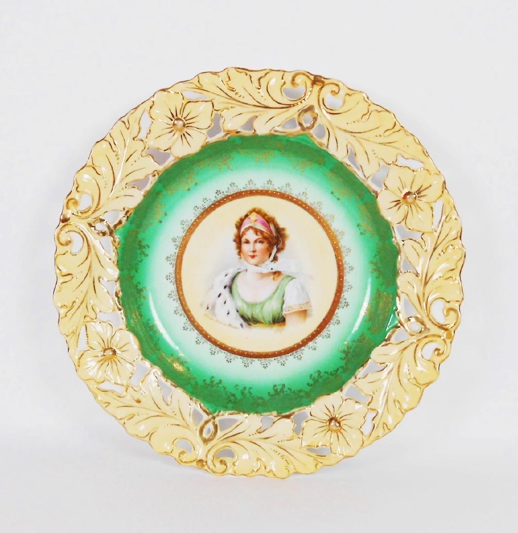 Porcelain Portrait Plate, German, Circa 1900