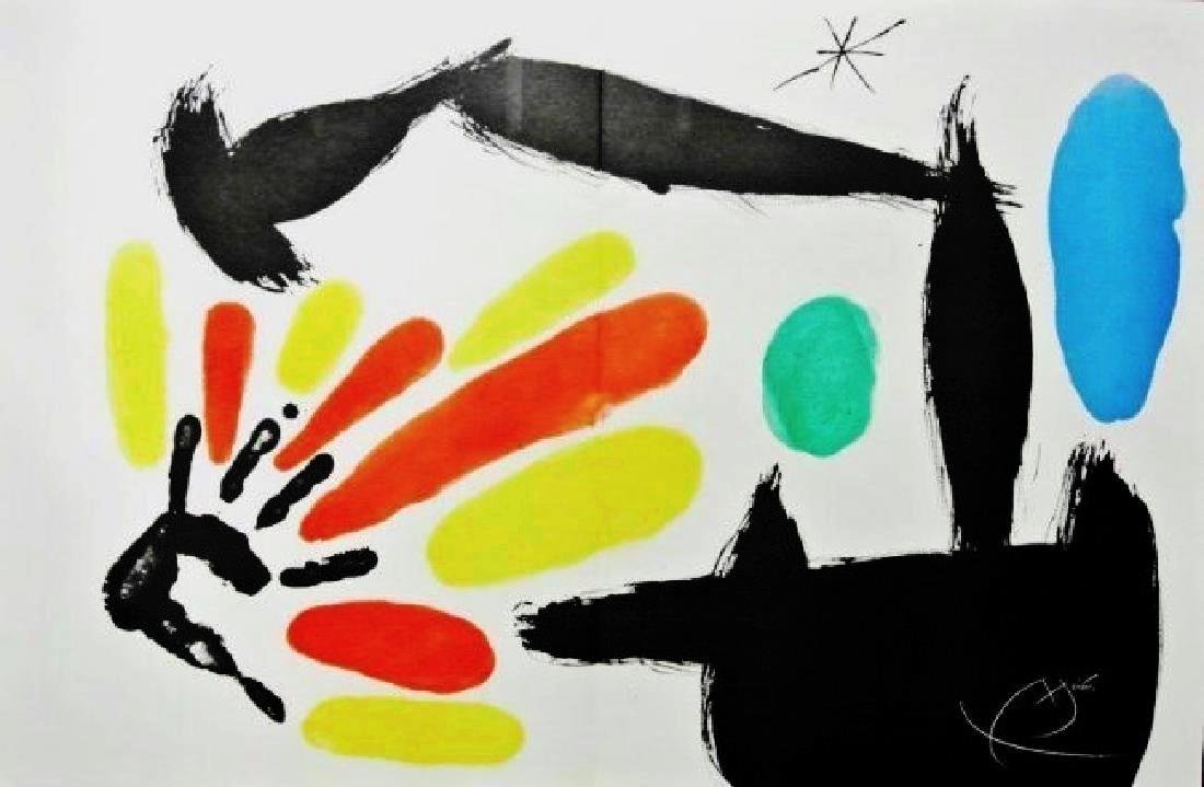 Joan Miro (1893-1983) Signed Color Lithograph