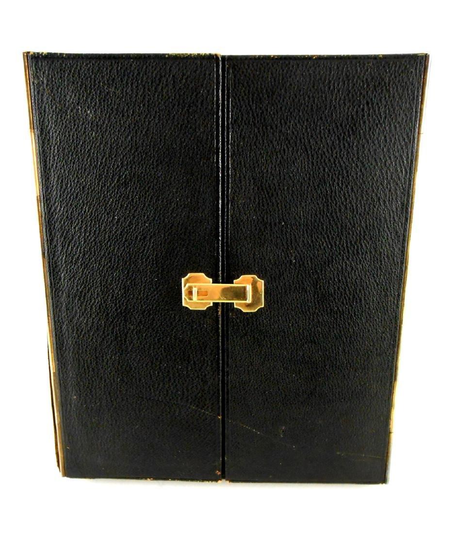 Vintage Picture Frame Case, 14KT Gold Trim