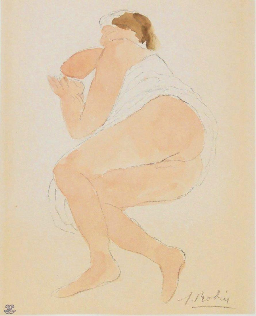 Auguste Rodin (1840-1917) Watercolor