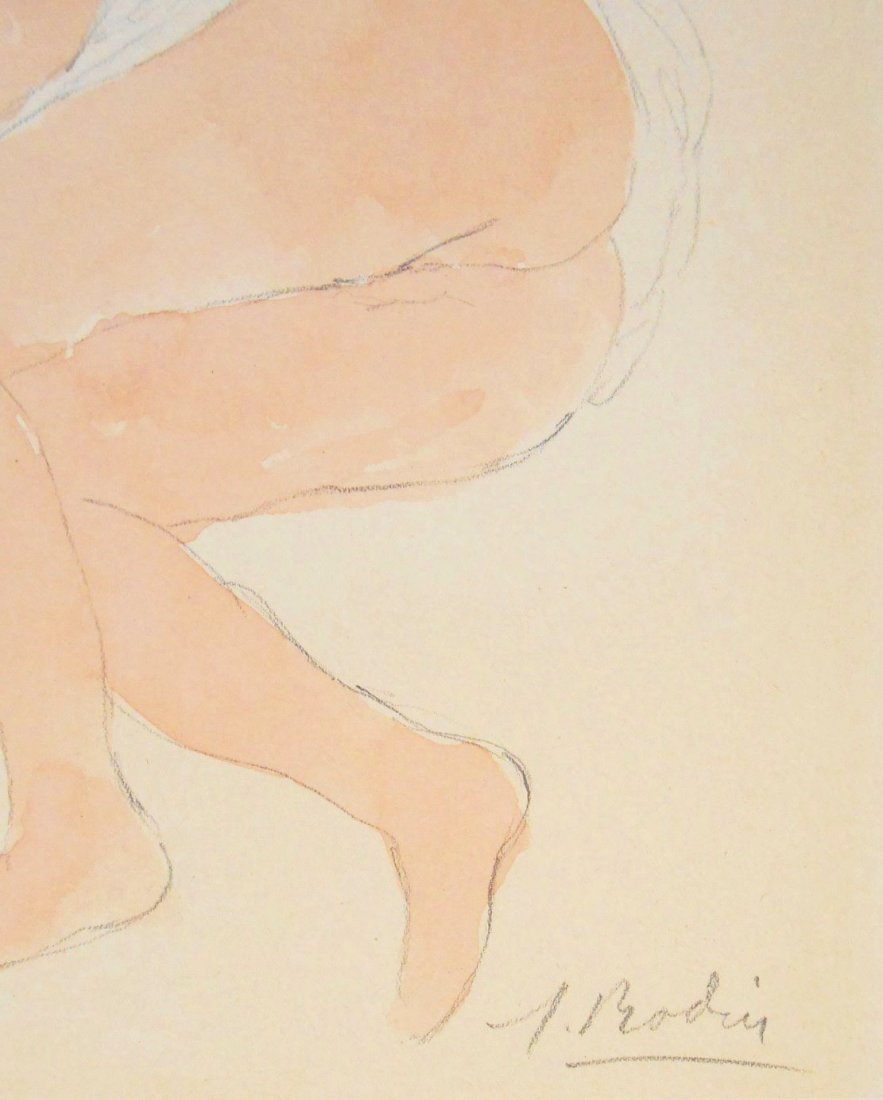 Auguste Rodin (1840-1917) Watercolor - 2