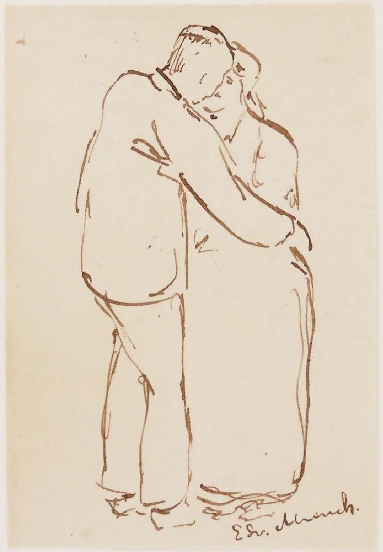 Edvard Munch (1863-1944) Pen & Ink Drawing