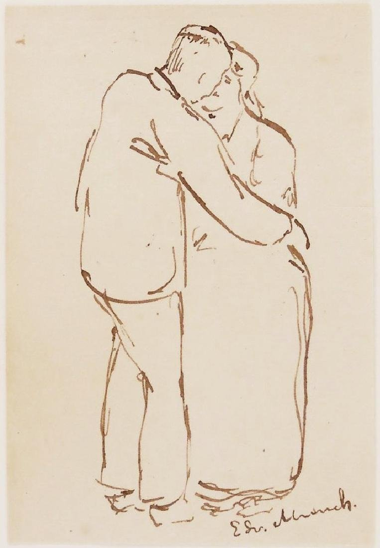 Edvard Munch (1863-1944) Pen & Ink Drawing
