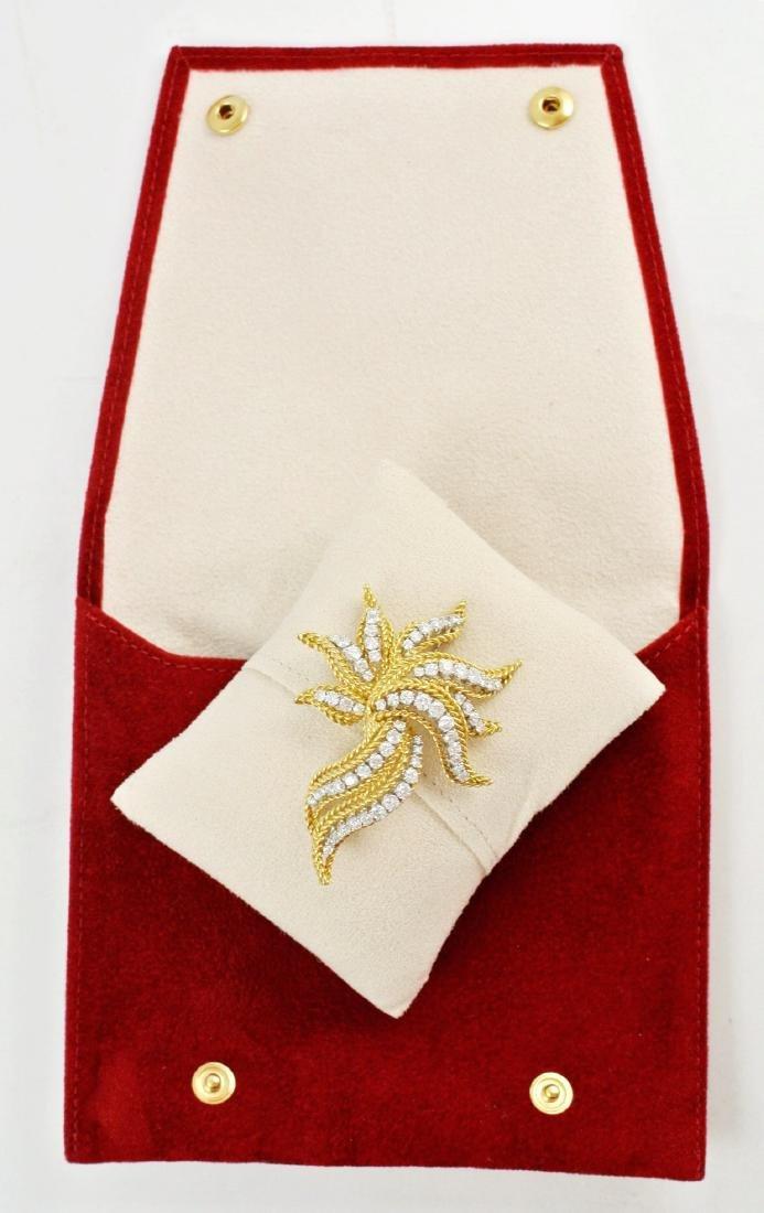 Diamond & 18Kt Gold Brooch