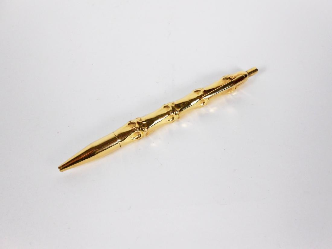 """18KT Gold Cartier """"Bamboo"""" Pen"""