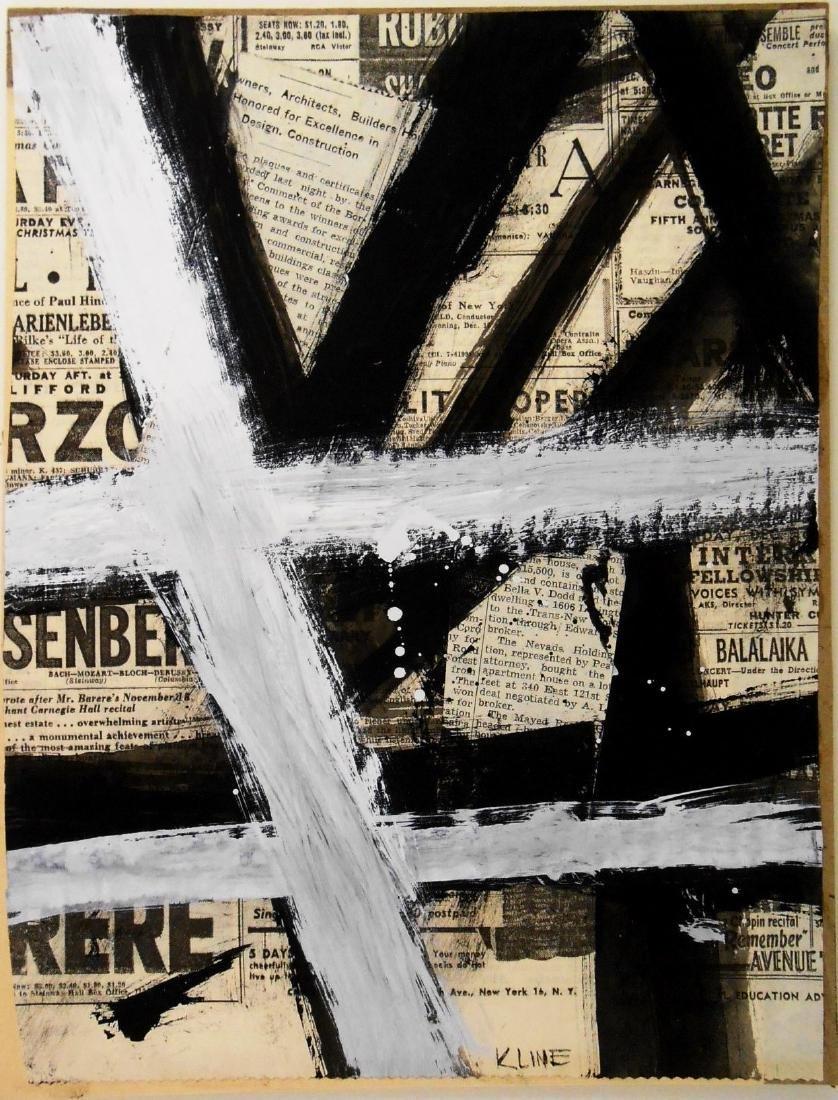 Franz Kline (1910-1962) Collage & Gouache