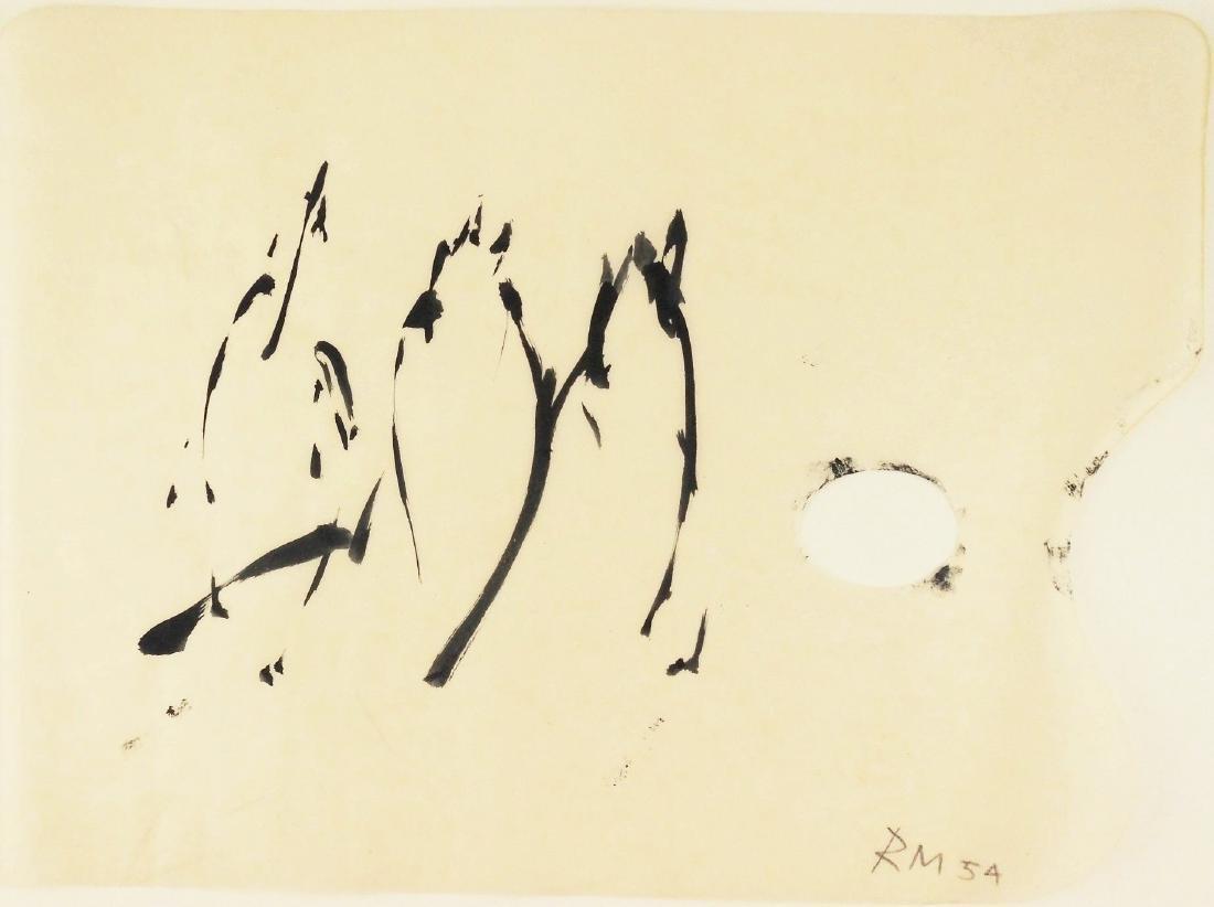 Robert Motherwell (1915-1991) Black Gouache