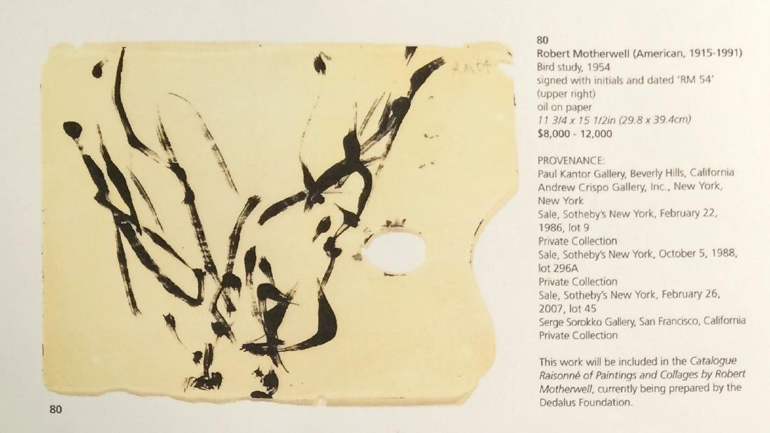 Robert Motherwell (1915-1991) Bird Study - 3