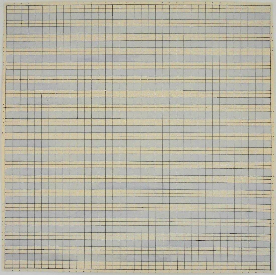 Agnes Martin (1912-2004) Ink & Watercolor