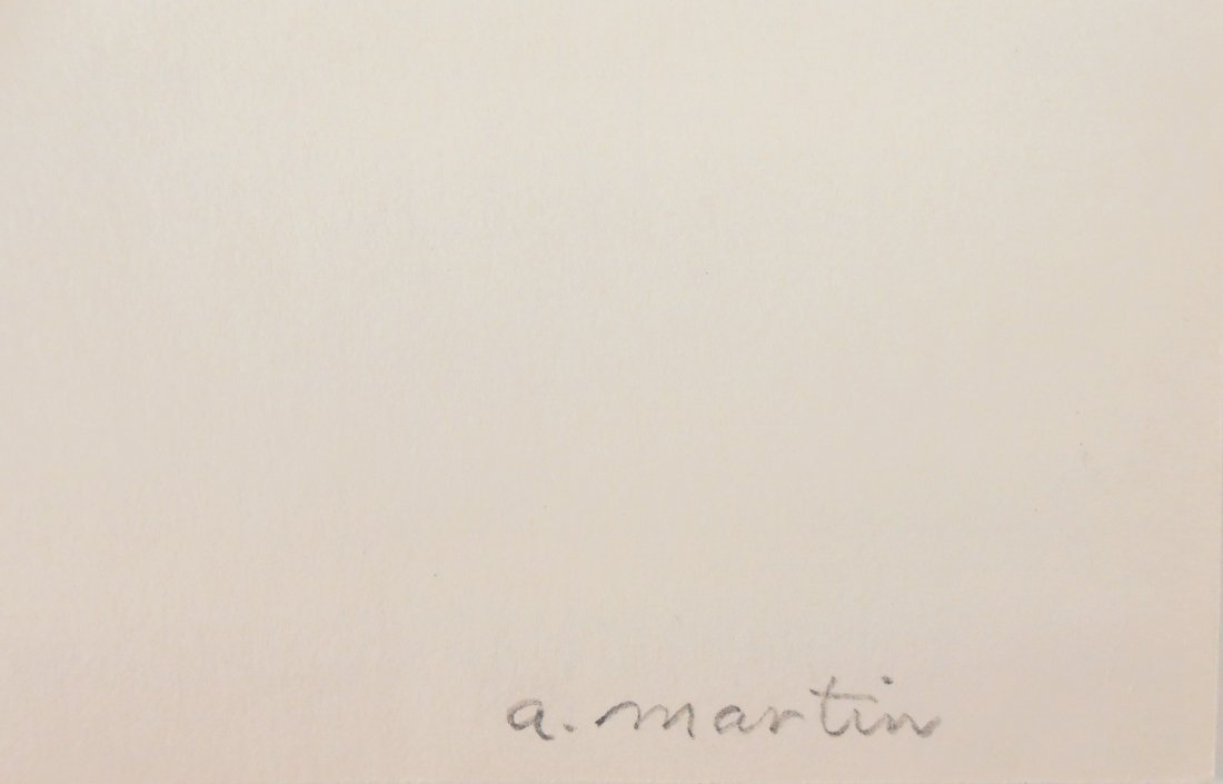 Agnes Martin (1912-2004) Ink & Watercolor - 2