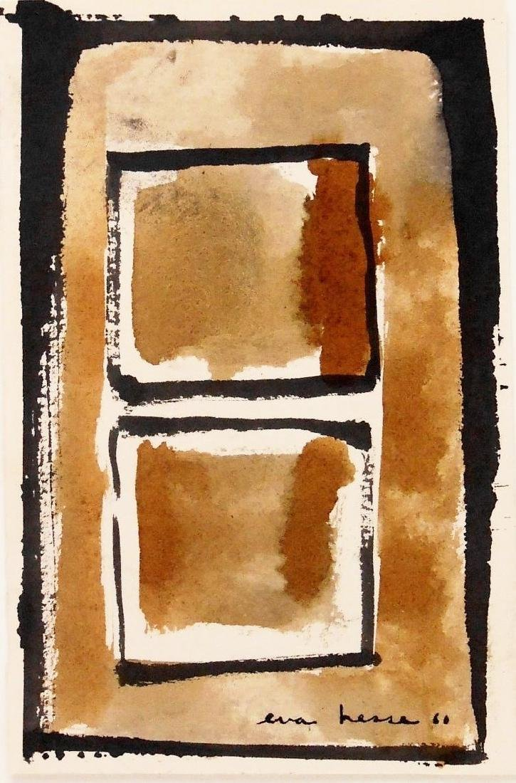 Eva Hesse (1936-1970) Mixed Media Drawing