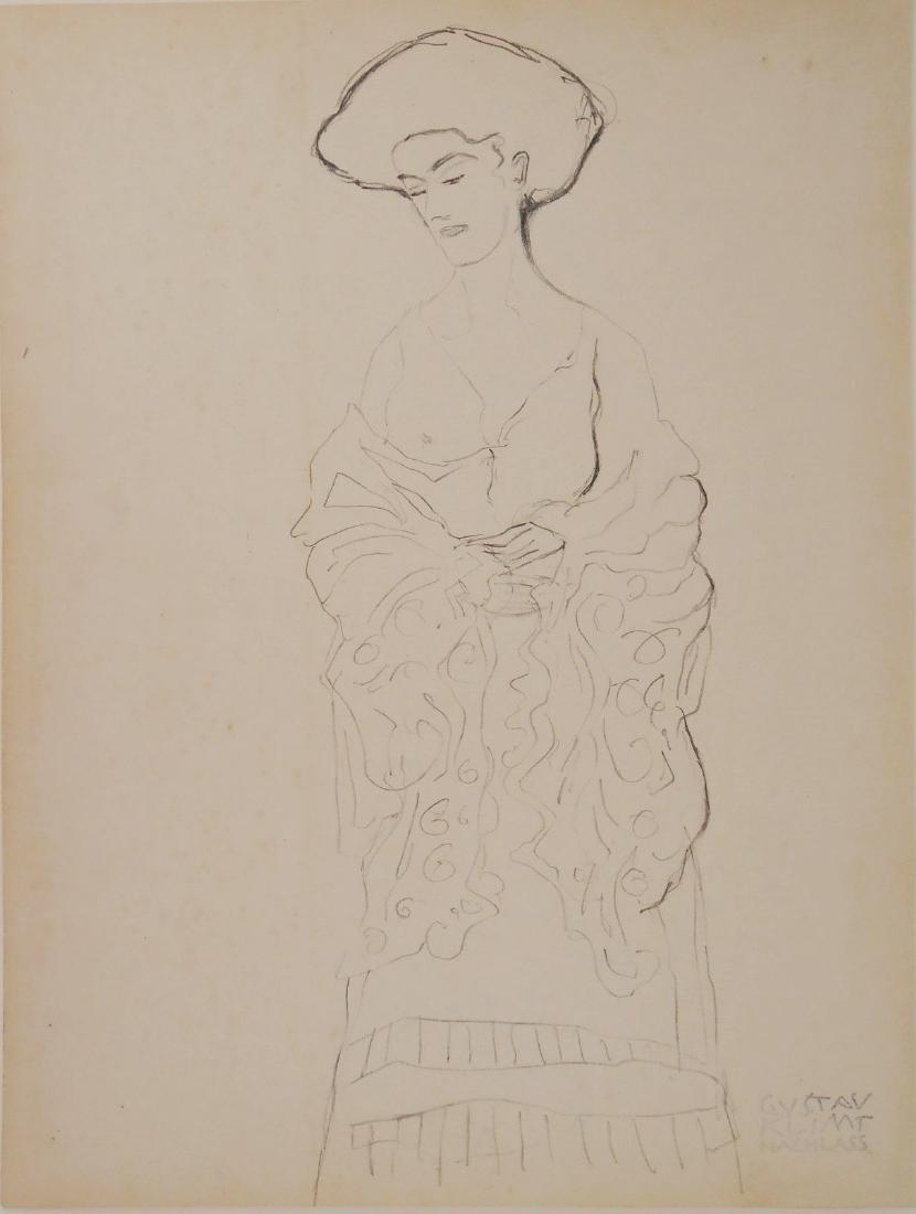 Gustav Klimt (1862-1918) Pencil Drawing