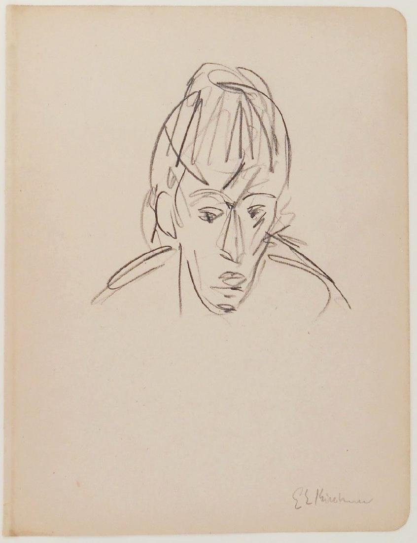 Ernst Ludwig Kirchner (1880-1938) Pencil Drawing