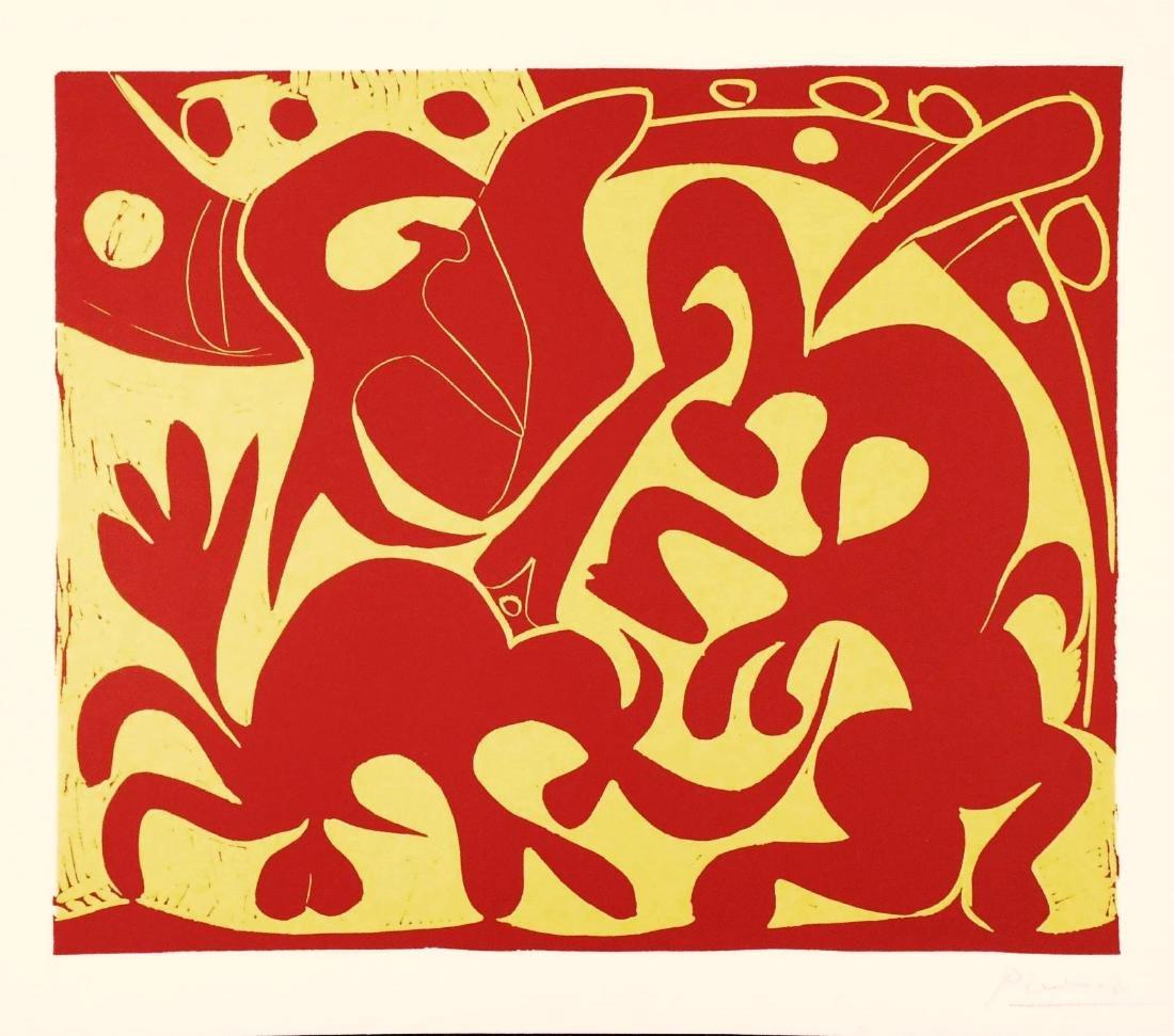 Pablo Picasso (1881-1973) Linoleum Cut