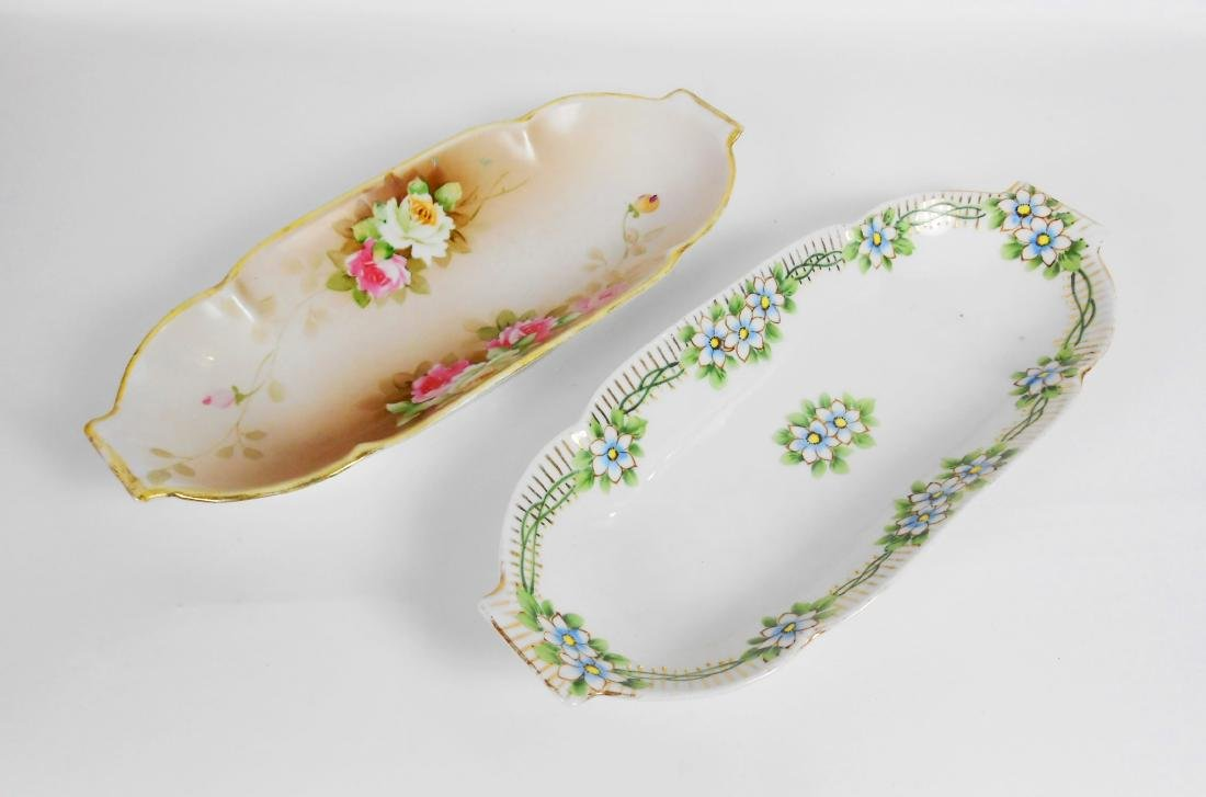 Two Nippon Dressing Table Dishes