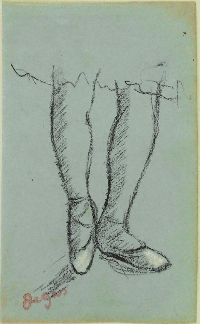 Edgar Degas (1834-1917) Charcoal Study