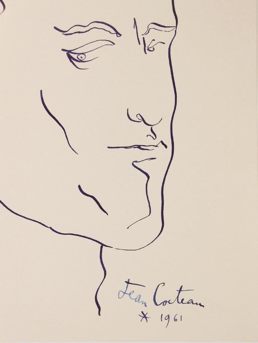 Jean Cocteau (1889-1963) Ink Self Portrait - 2