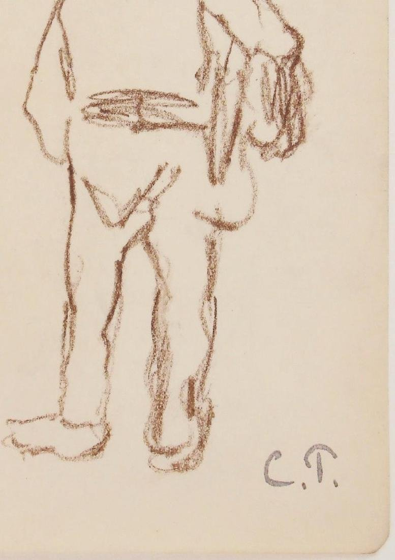 Camille Pissarro (1830-1903) Brown Chalk Drawing - 2
