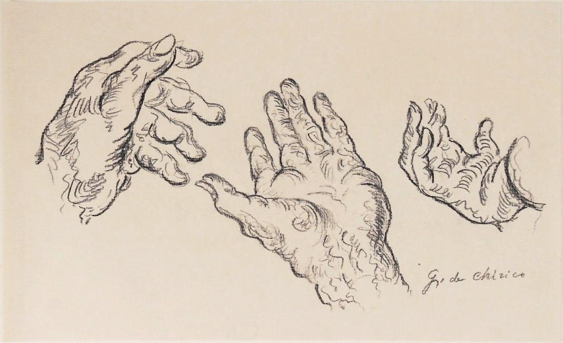 Giorgio De Chirico (1888-1978) Pencil Drawing