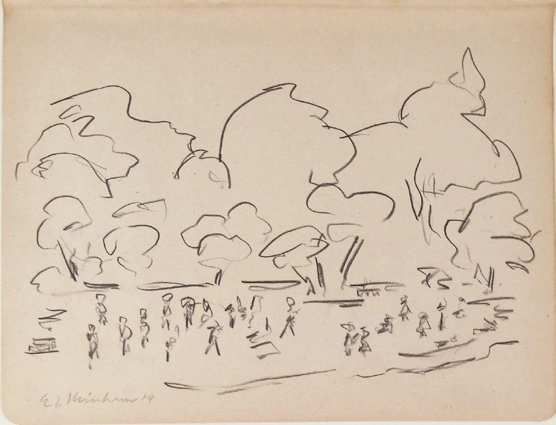 Ernst Ludwig Kirchner (1880-1938) Pencil Drawing