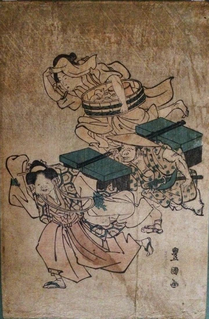 Utagawa Toyokuni (1769-1825) Woodblock Print