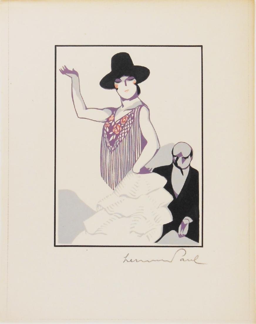 Hermann Paul (1864-1940) Color Woodcut, Signed