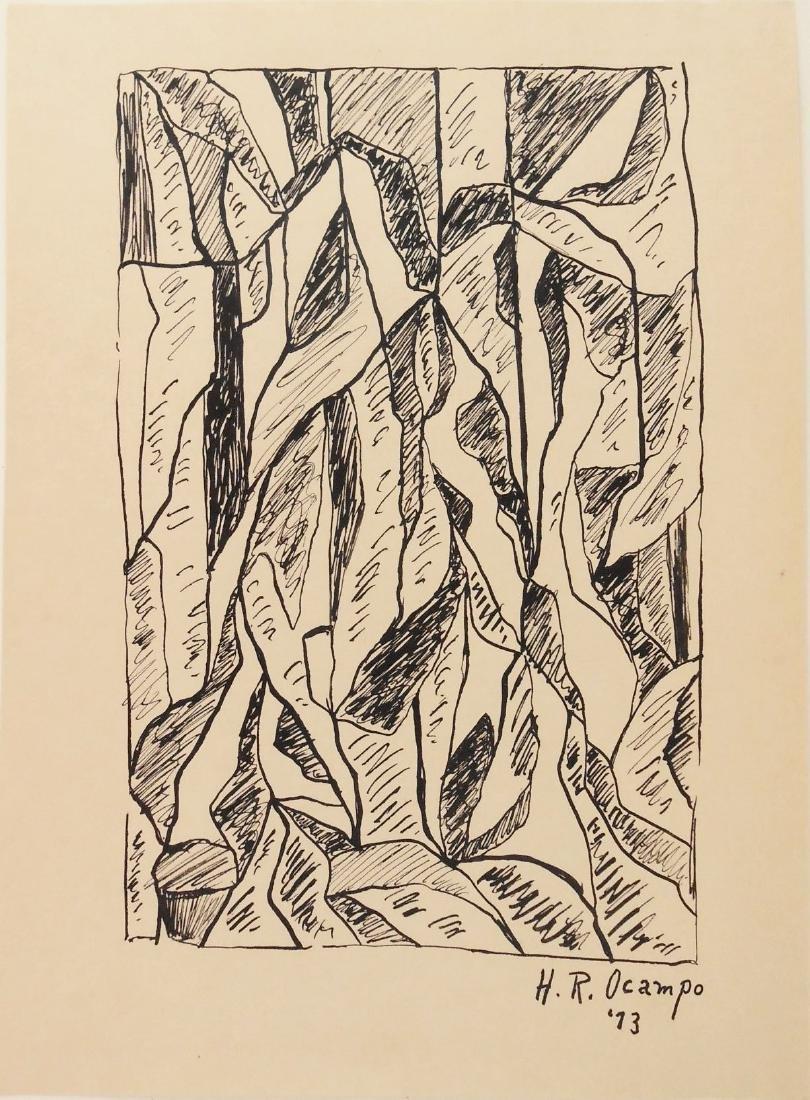 Hernando Ruiz Ocampo (1911-1978) Pen & Ink