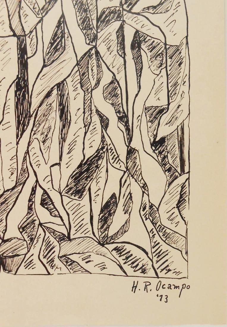 Hernando Ruiz Ocampo (1911-1978) Pen & Ink - 2