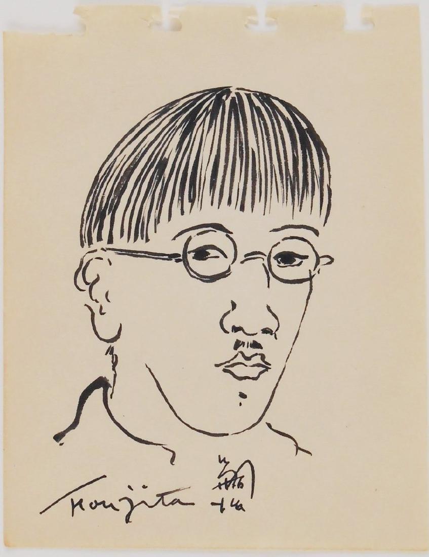 Tsuguharu Foujita (1886-1968) Brush & Ink Study