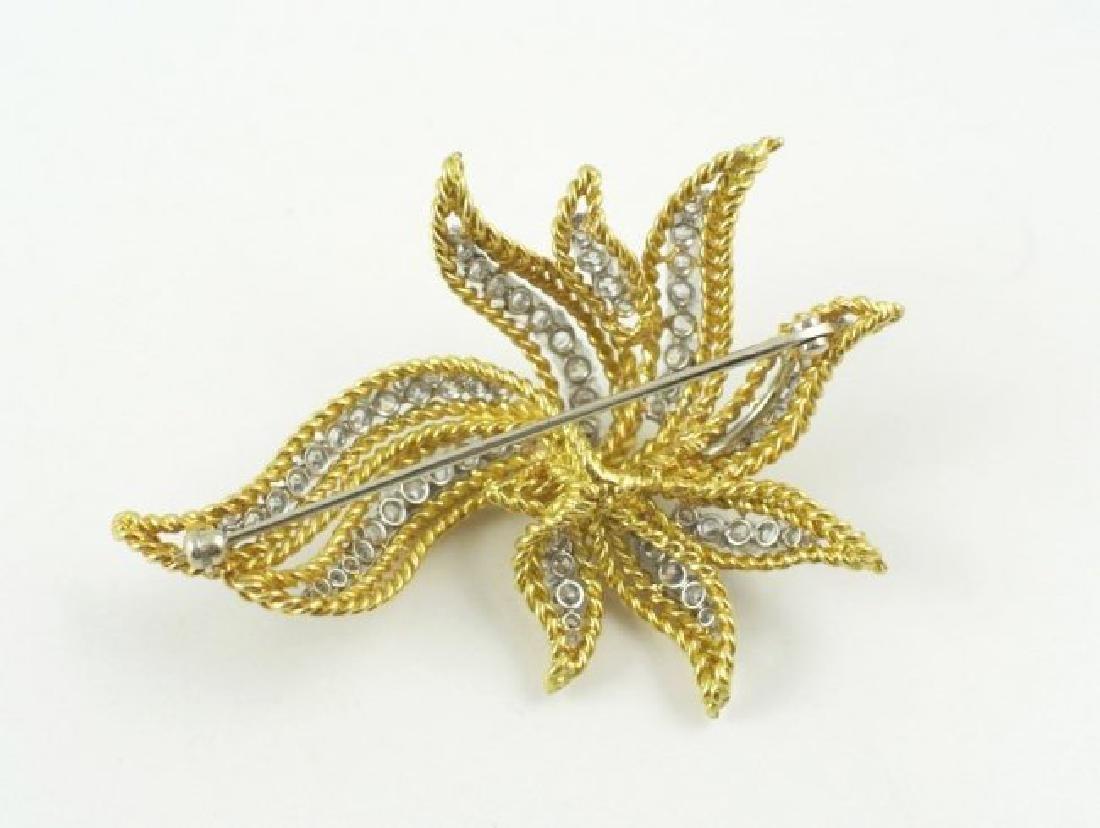 18Kt Gold & Diamond Brooch - 3