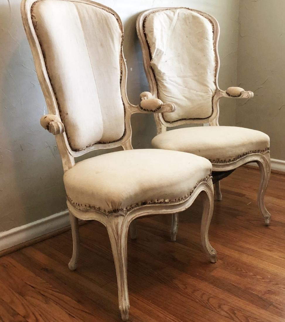 Pair French Musician's Chairs, Circa 1900