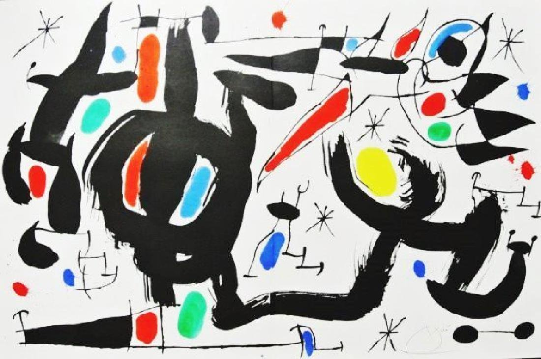 Joan Miro (1893-1983) Color Lithograph